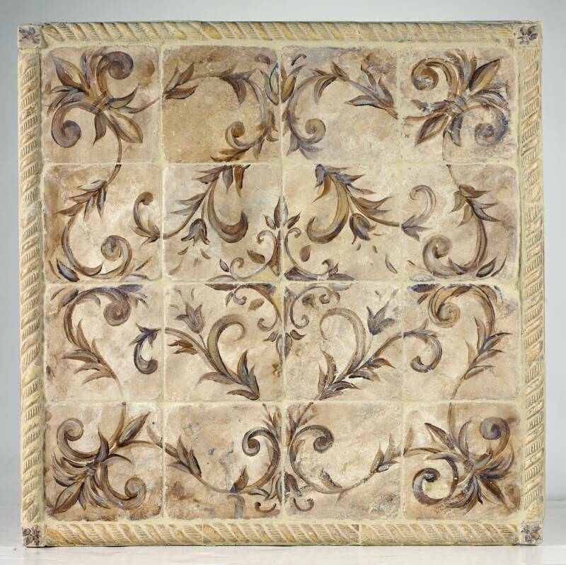 Poppy Hill Tuscan Kitchen: Classic Scroll Tile Murals