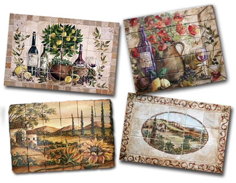 tre sorelle hand painted tile murals and decorative tiles